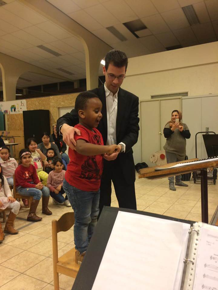 Concert aspirantenorkest in AZC Katwijk