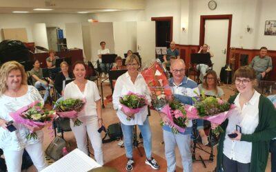 Jubilarissen gehuldigd: Bert 60 jaar lid