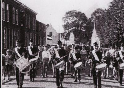 Optocht Harmonie Katwijk 1955