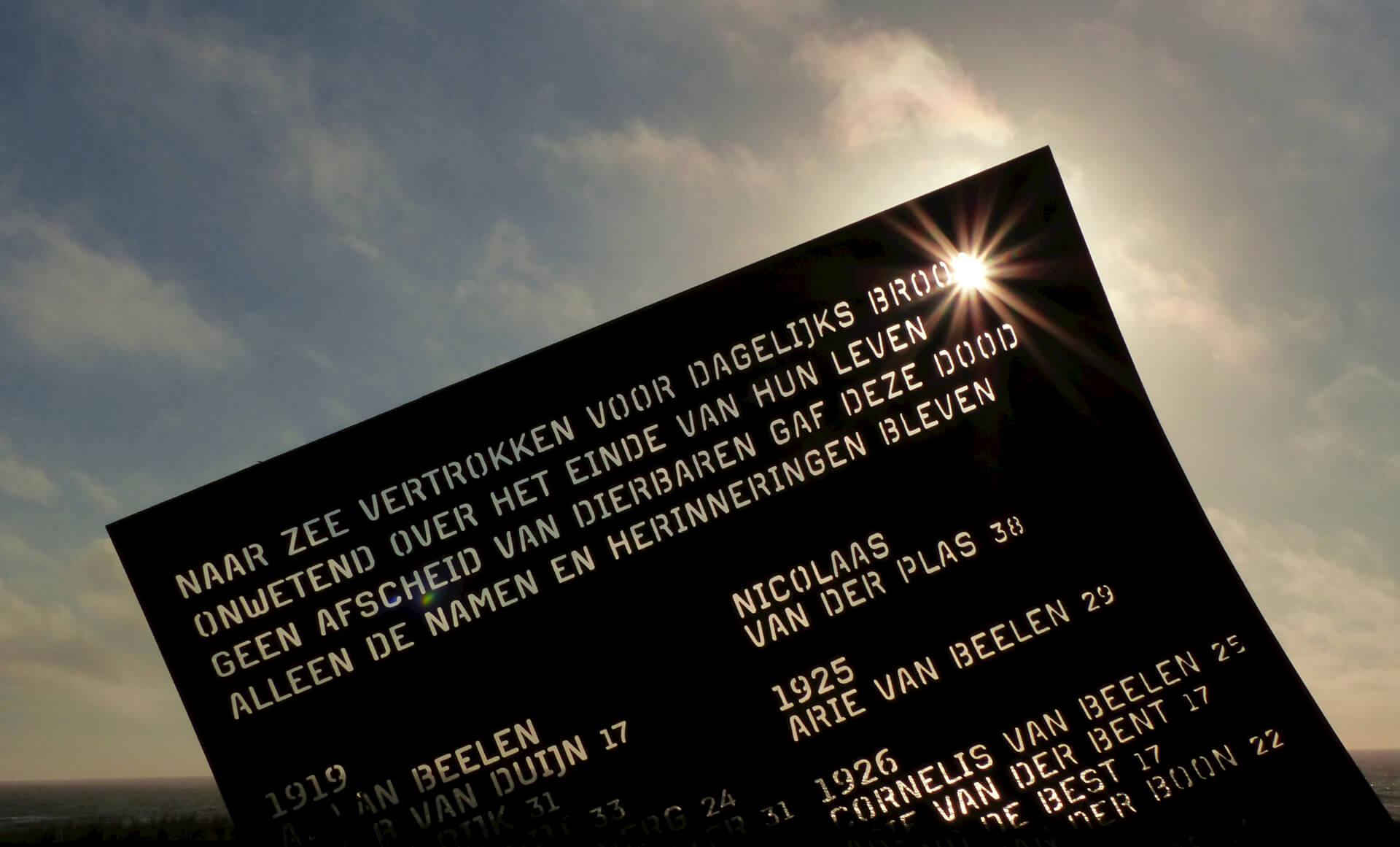 herdenking omgekomen vissers katwijk