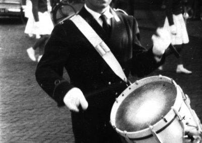 Tamboer van Harmonie Katwijk 1955