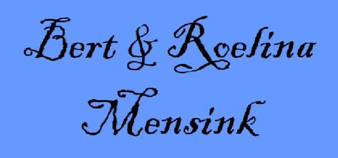 Bert en Roelina Mensink