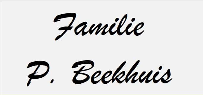Familie P. Beekhuis