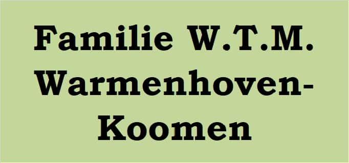 Familie W.T.M. Warmenhoven-Koomen