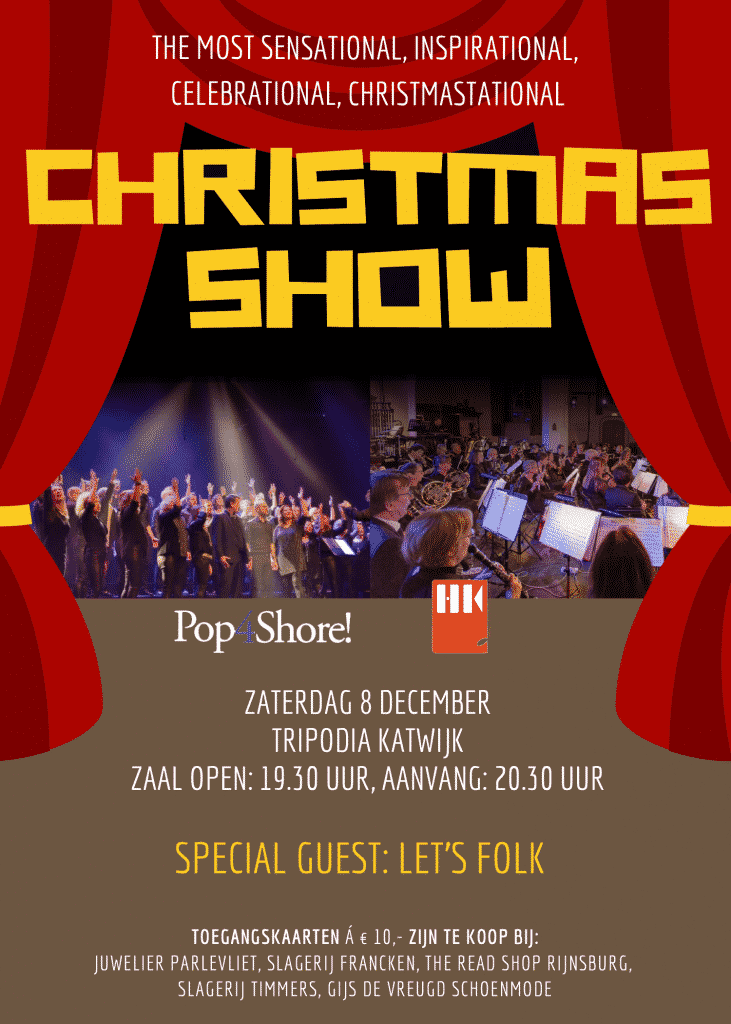 kerstconcert met Pop4Shore en Let's Folk