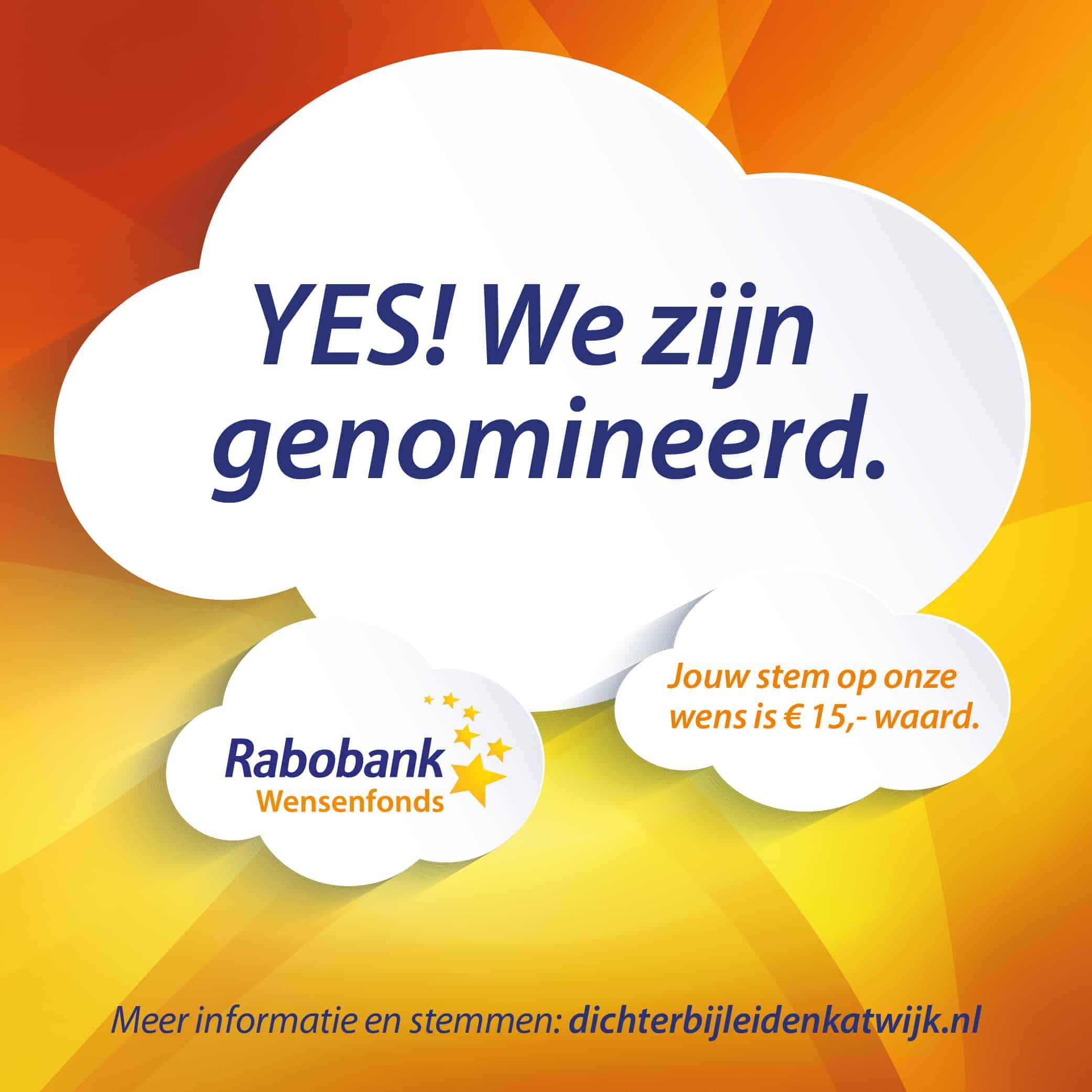Onze wens is genomineerd voor het Rabobank Wensenfonds!